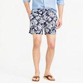 "J.Crew 6.5"" tab swim short in navy Hawaiian floral"