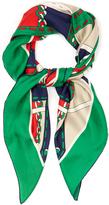 Gucci Argyle chain-print silk-twill scarf