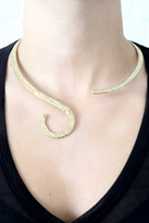 Natalie B Harlot Necklace in Brass