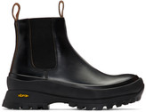 Jil Sander Black Rubber Sole Boots