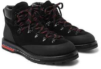 Moncler Genius 7 Fragment Suede, Leather And Rubber Boots