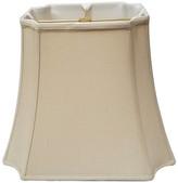 BEIGE Royal Designs, Inc. Royal Designs Rectangle Inverted Cut Corners Lamp Shade, Beige, 11x11x