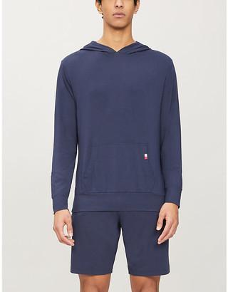 Tommy Hilfiger Brand-tab stretch-jersey hoody
