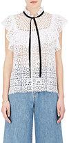 Sea Women's Ruffle-Detailed Cotton-Blend Lace Top