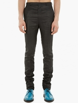 Paul Smith Black Metallic Finish Slim-Fit Trousers
