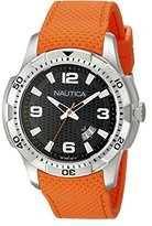 Nautica Men's NAD12519G NCS 16 Analog Display Japanese Quartz Orange Watch