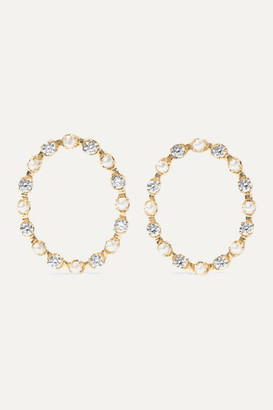 Marlo Laz Full Circle 14-karat Gold, Diamond And Pearl Earrings