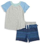 Splendid Boys 2-7 Little Boys Raglan Tee and Shorts Set