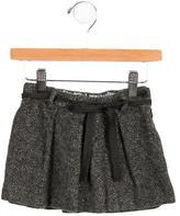 Bonpoint Girls' Wool Metallic-Accented Skirt