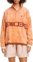 story. Mfg. Polite Crochet Trim Tie Dye Organic Cotton Corduroy Pullover