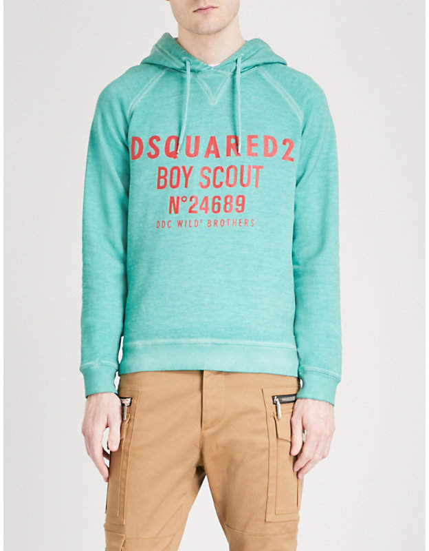 DSQUARED2 Boy Scout cotton hoody