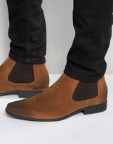 Asos Chelsea Boots in Brown Tan Faux Suede