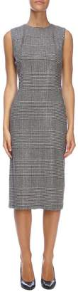 Ermanno Scervino Dress Sheath Dress With Sleeveless In Prince Of Wales Fabric