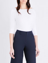 Mo&Co. Scooped stretch-cotton top