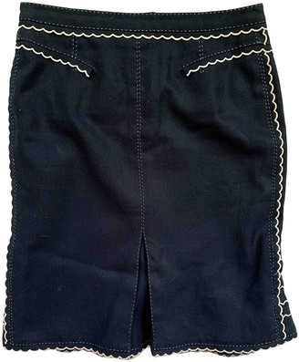 Louis Vuitton Navy Linen Skirt for Women