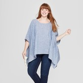 Universal Thread Women' Plu ize triped Poncho weater - Univeral ThreadTM Chambray
