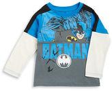 Nannette Boys 2-7 Mock-Layered Long-Sleeve Batman Graphic T-Shirt