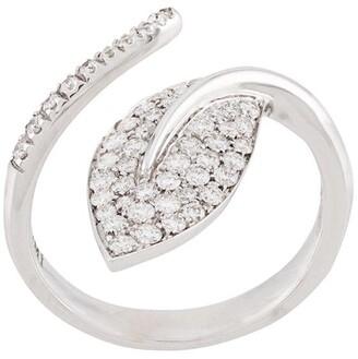 Mimi 18kt white gold Foglia leaf diamond ring