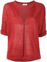 Brunello Cucinelli v-neck shortsleeved jumper - women - Cotton - L