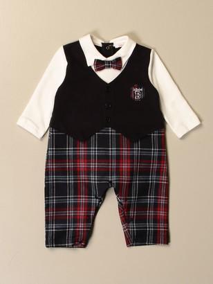 Le Bebé Le Bebeacute; Long Onesie In Tartan Cotton