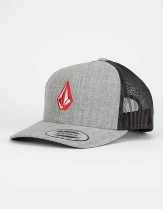 Volcom Full Stone Cheese Gray Mens Trucker Hat