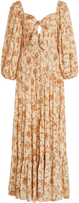 Significant Other Paradise Floral-Print Crepe Dress