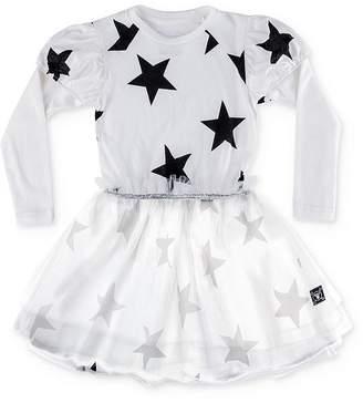 Nununu Girls' Star Print Overlay Dress - Baby