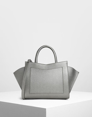 Charles & Keith Geometric Structured City Bag