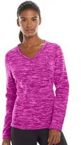 Tek Gear Women's Microfleece V-Neck Sweatshirt