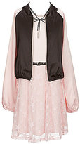 I.N. Girl Little Girls 4-6X Star-Print Dress & Bomber Jacket Set