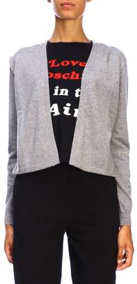 Love Moschino Sweater Long-sleeved Sweater With Faux Cardigan And Maxi Logo