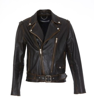 Golden Goose Studded Detail Biker Jacket