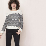 Maje Sweater with applied lace