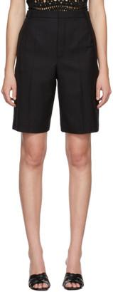 Saint Laurent Black Wool Bermuda Shorts