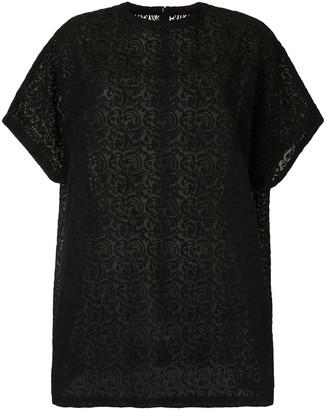 Y's semi-sheer short-sleeved T-shirt