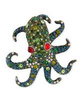 Kenneth Jay Lane Pave Crystal Octopus Pin