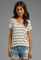 Splendid Brooklyn Striped Drapey Lux Short Sleeve