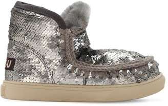 Mou Sequined Eskimo Shearling Boots