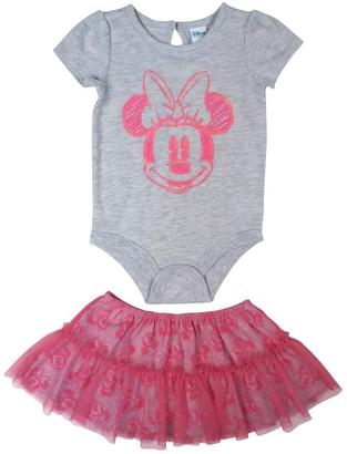 Disney Baby Girl's Minnie Mouse 2pc Tutu Set Skirt