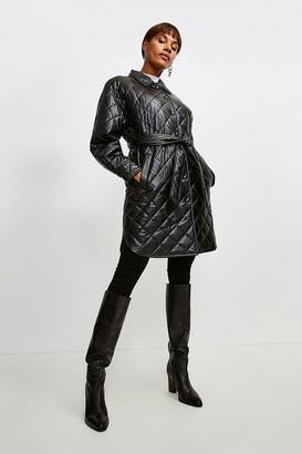 Karen Millen Faux Leather Quilted Mac