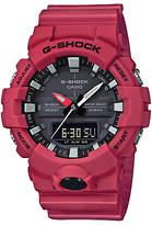 Casio Ga-800-4aer G-shock Resin Strap Watch, Red/black