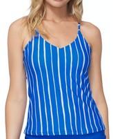 Thumbnail for your product : Raisins Juniors' Shore Thing Macrame-Back Tankini Top Women's Swimsuit
