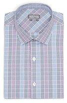 Kenneth Cole Reaction Men's Slim-Fit Plaid Spread Collar Dress Shirt