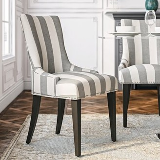 World Menagerie Abby Parsons Chair Upholstery Color: Gray / Bone