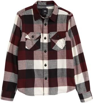Vans Kids' Box Check Flannel Button-Up Shirt