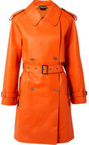 Tom Ford Double-breasted Leather Trench Coat - Orange