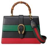 Gucci Large Dionysus Top Handle Leather Shoulder Bag - White
