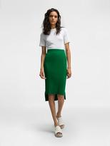 DKNY Ribbed Midi Skirt With Step Hem