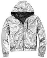 Blank NYC BLANKNYC Girls' Reversible Metallic Rain Jacket - Big Kid