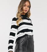 Urban Bliss high neck sweater in stripe